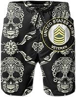 Abfind Pantalón Corto Sargento del ejército Masculino Sargento Mayor Sargento de Estados Unidos Swim Trunks Beach Short