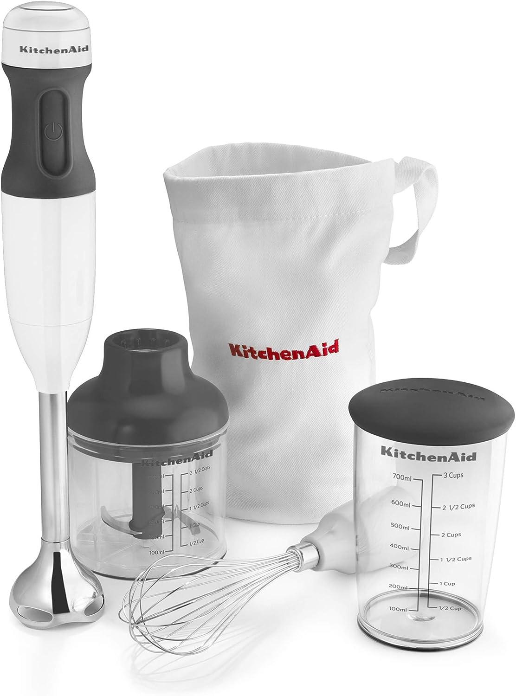 KitchenAid KHB2351WH Pro Line Hand Blender, 2 Speed, White (Renewed)
