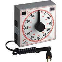 "GraLab Model 171 60 Minute General Purpose Timer, 7-1/2"" Length x 7-1/2"" Width x 2-1/2"" Height, -0.015% Accuracy"