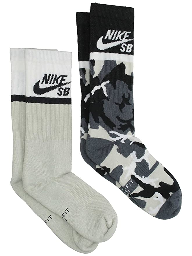 fcd6a25cb1f4e Nike SB Energy Crew SX6848 Skateboarding Socks (2 Pair): Amazon.ca ...