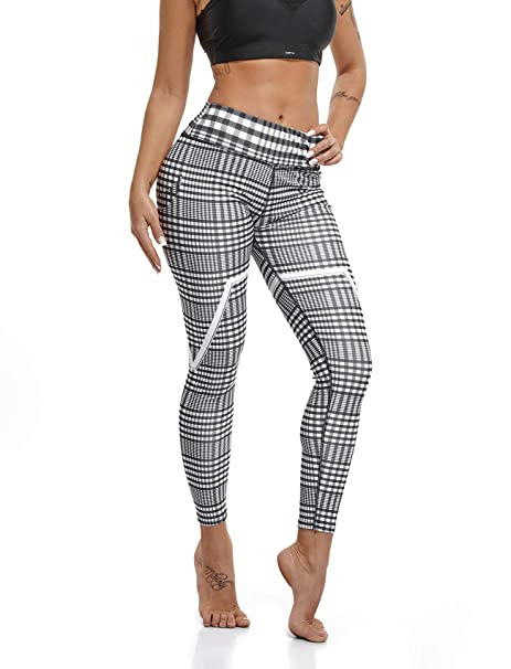 0b35c7eff274d RIOJOY Women's Printed Yoga Pants High Waist Workout Fitness Leggings Sport  Gym Yoga Athletic Tights Pants