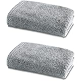 Bamboo Bath Linen - Luxury Double Pack - 2 x Bamboo Face Cloths 600gsm - Pearl Grey