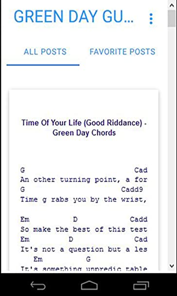 Amazon Green Day Guitar Chords Appstore For Android