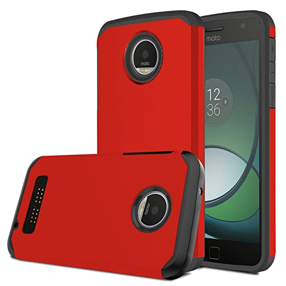 cheap for discount def74 d9d94 Moto Z Play Case, Venoro [Shockproof] Slim Hybrid Dual Layer Armor Defender  Rugged Protective Case Cover for Motorola Moto Z Play/Moto Z Play Droid ...