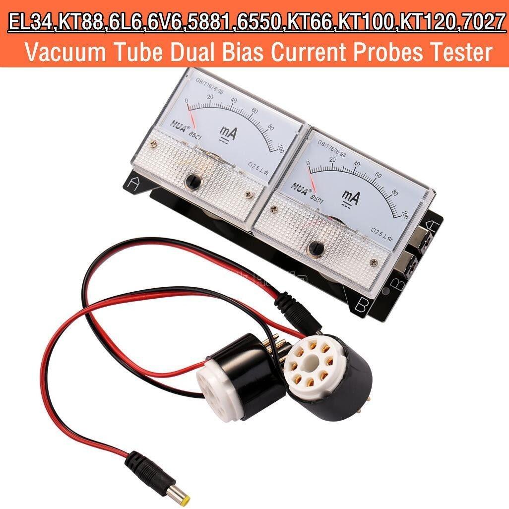 Nobsound Audio Dual Bias Current Probes Tester VU Meter for EL34 KT88 6L6 6550 Tube