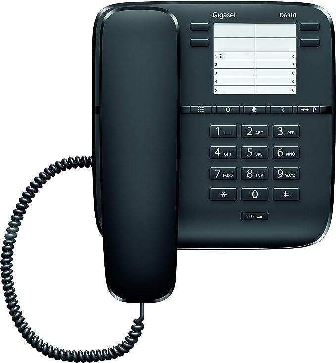 Gigaset DA310 - Teléfono Fijo Sobremesa, 4 Marcaciones Directas ...