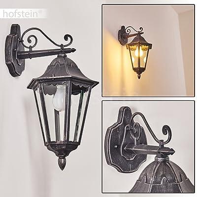 Applique Murale Lignac En Métal Noir Antique Lampe Dextérieur