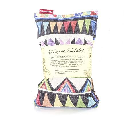 Saco Térmico de Semillas aroma Lavanda, Azahar o Romero tejido Azteca (Romero, 50_cm)