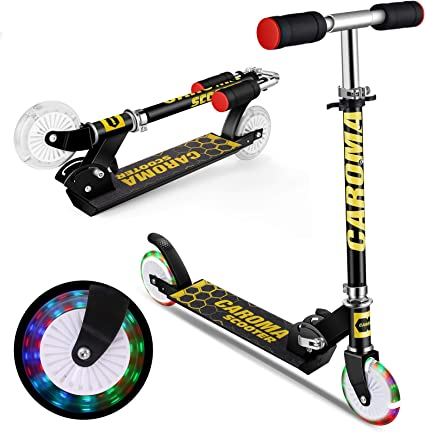 Folding Adjustable Kids Scooter with LED Light-up Lightweight Aluminum Boy Girl