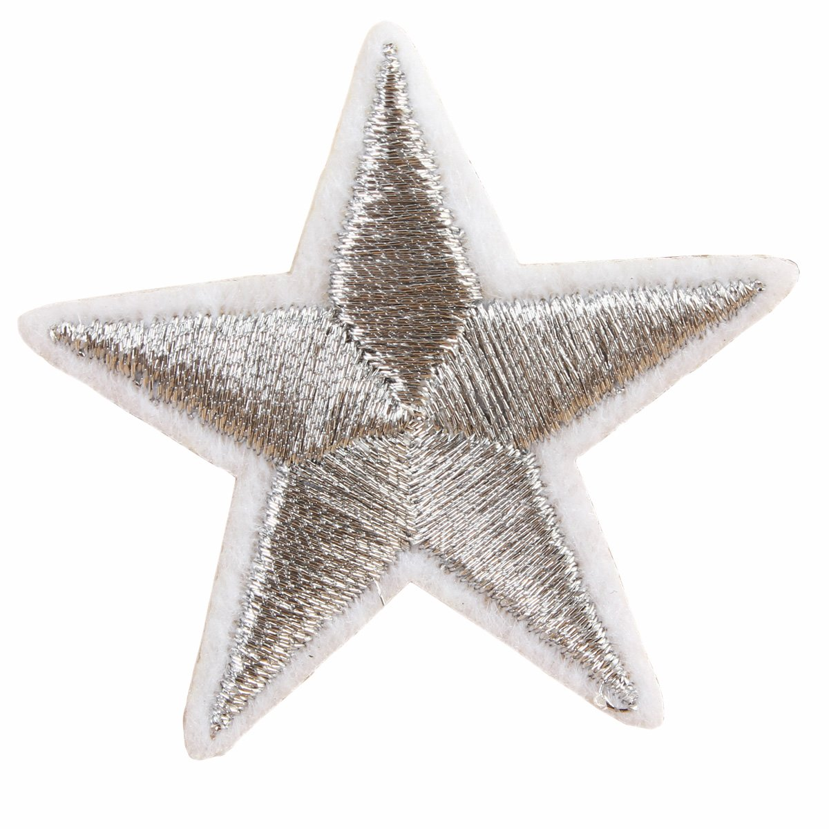 20/pcs 4,2/cm plata cinco estrella para coser en parches bordado gamuza zapatos sombreros bolsas pasta de hierro en parches