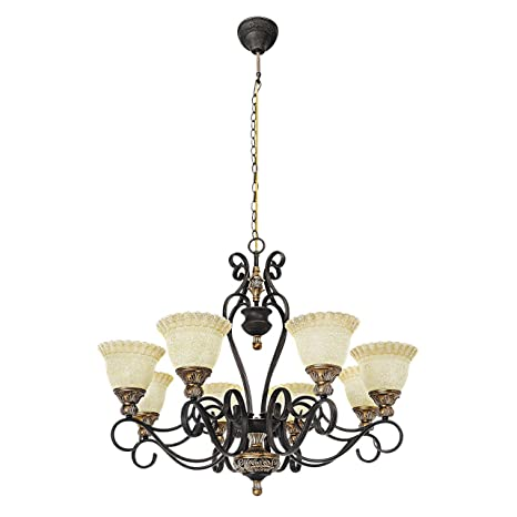Lámpara de techo, lámpara de araña, estilo rústico ...
