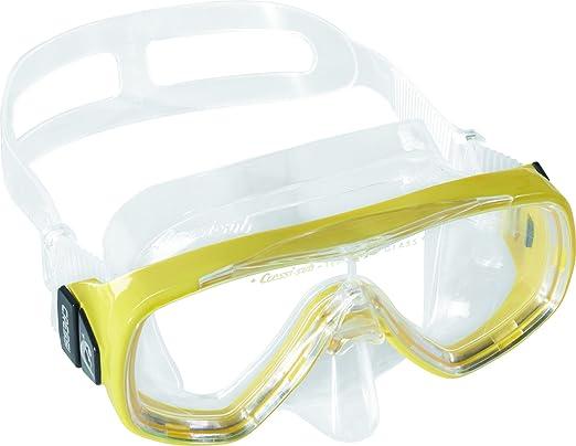 Cressi Ondina Jr - Gafas de snorkeling, color transparente/amarillo