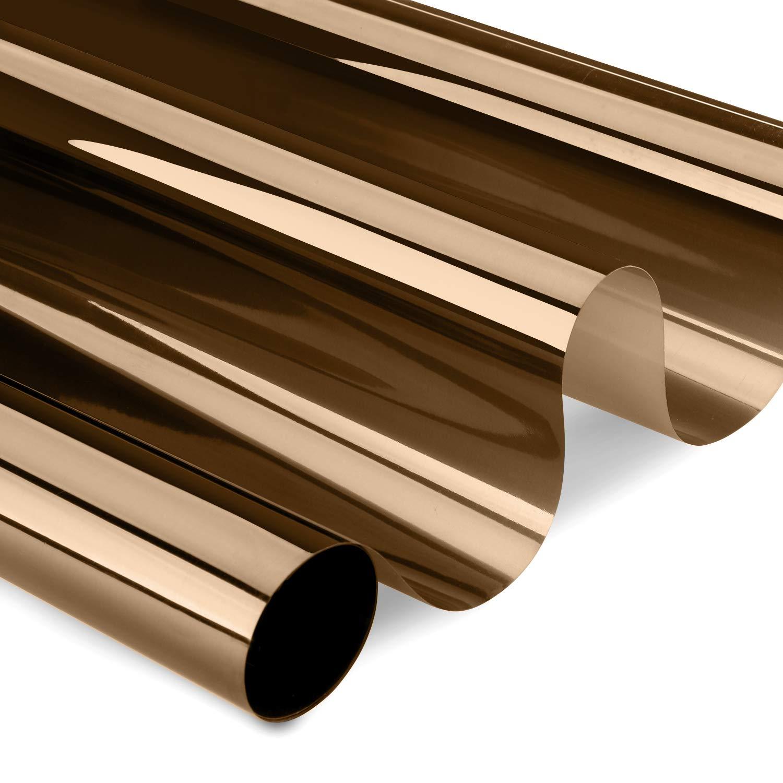 XC Film de protection pour vitres en PVC 99/% Protection UV Protection contre les UV Pour vitres de 3 /à 5 ans Argent/é 300 x 75 cm