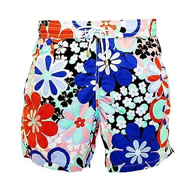 8b48010b38 Bayahibe Men's Swimwear Shorts Quick Dry French Handmade Printed Swim Trunk