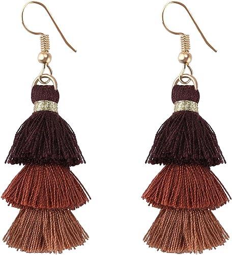 2PCS Leather faux extra long Brown fringe Tassel Pendant Beading Supplies