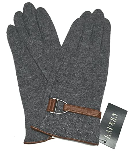 Lauren Ralph Lauren Women's Quilted Gloves Size Large (Grey with ... : leather quilted gloves - Adamdwight.com