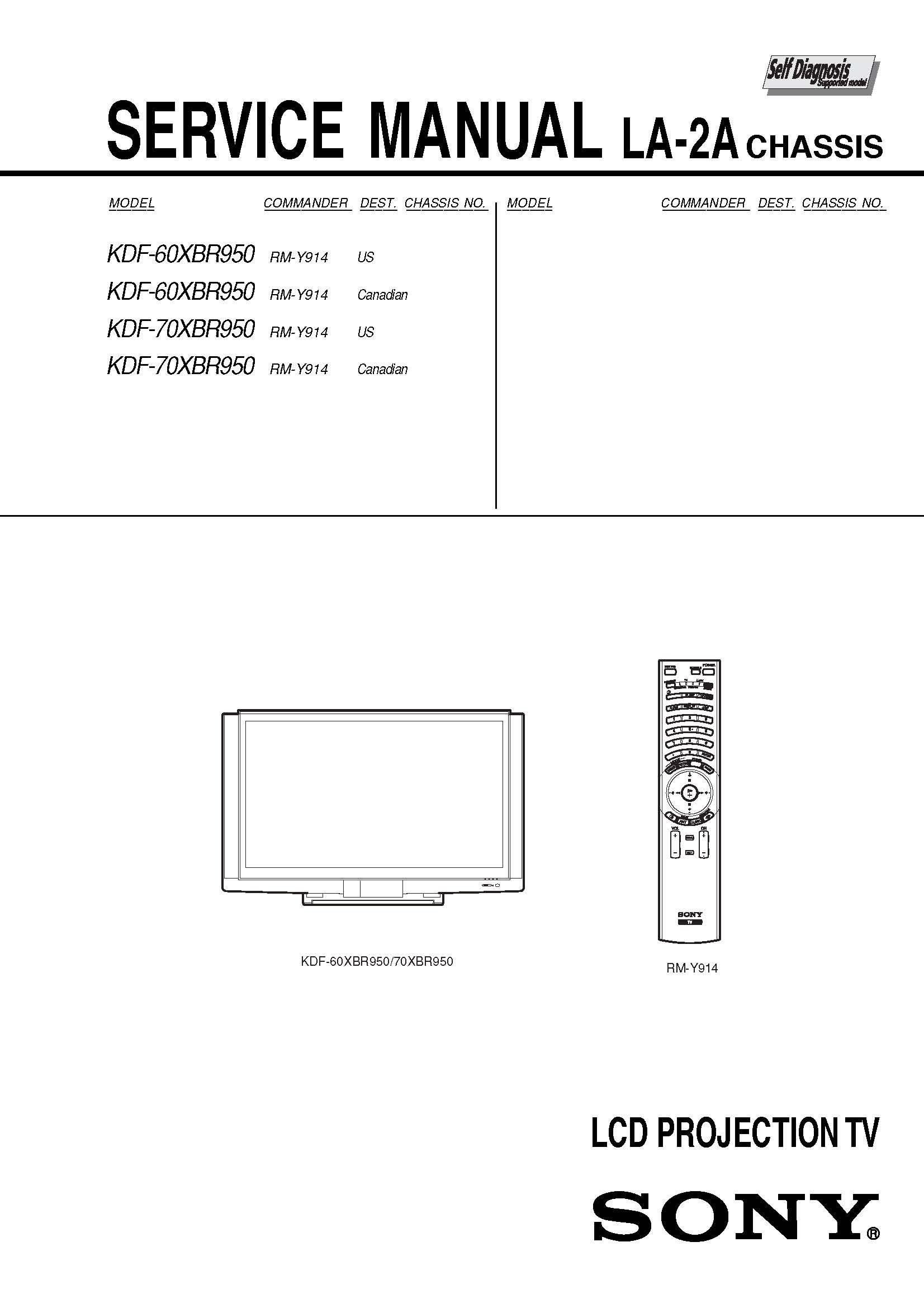 sony kdf60xbr950 kdf70xbr950 service manual sony amazon com books rh amazon com Sony Wega 60 Sony Wega TV