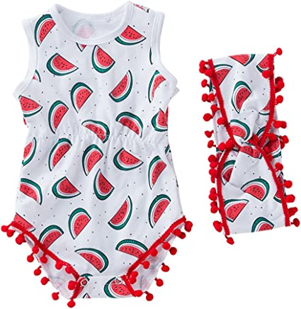 Baby Boys Girls Coconut Tree Hoodie Romper Summer Sleeveless Jumpsuit Outfit 3T