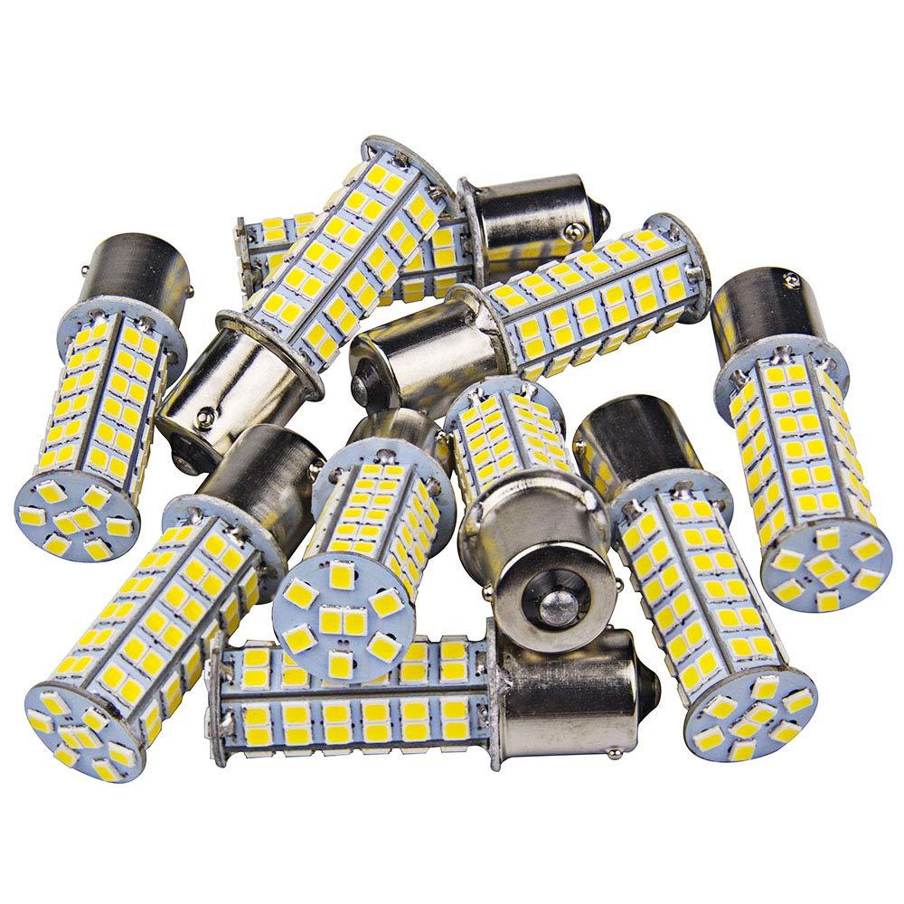 1141 1003 Interior Light Bulbs BA15S 1156 80 SMD Latest 2835 LED 1003 Turn Signal Backup Reverse (20-packs, Warm White) 1voi