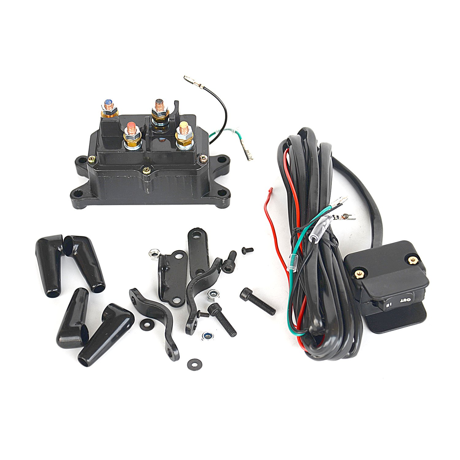 12V Solenoid Relay Contactor & Winch Rocker Thumb Switch Combo for ATV UTV-New GELUOXI