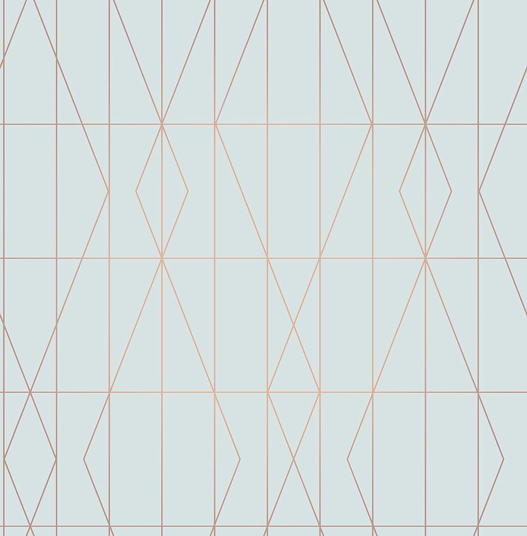 Fine Dé cor UW24785 Dé co Diamond Geo - Pared lateral, color azul Fine Décor