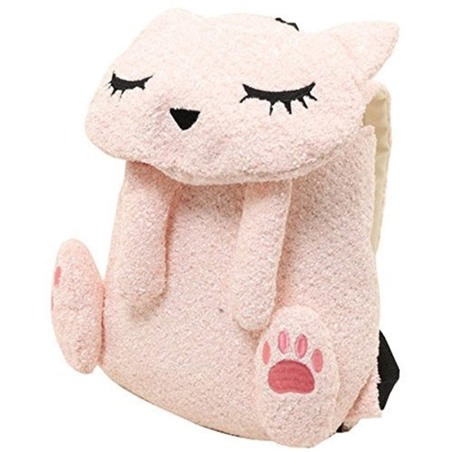 Pink Fluffy Cat Sailor Backpack School Bag 43x31cm  Osumashi Pooh Chan Cat – Black P17105015 from Japan