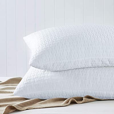 https www ubuy co mz pt product 7ztha2bu hombys never go flat bamboo shredded memory foam pillows 2 pack standard queen extra firm pillow hig