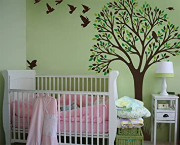 Nursery Tree Wall Decal Baby Kids Room Tree Wall Stickers Large Mural  Removable Matte Finish Vinyl Part 45