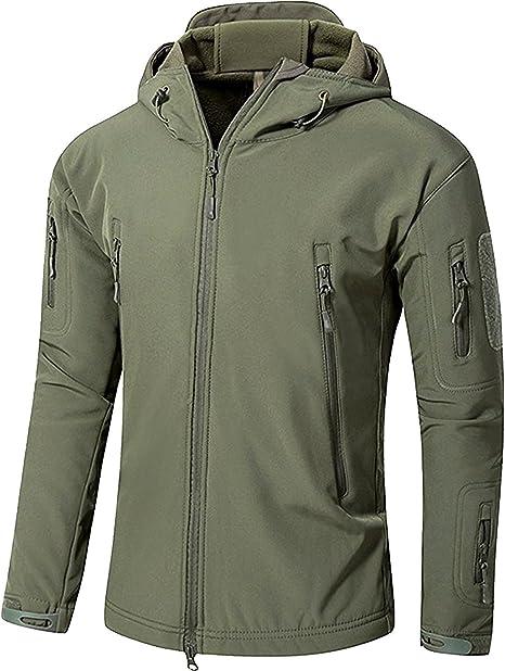 Imagen deYFNT Impermeable Militar táctica Lucha contra la Chaqueta de Softshell Camping al Aire Libre Caminar Camuflaje Hoodie Coat