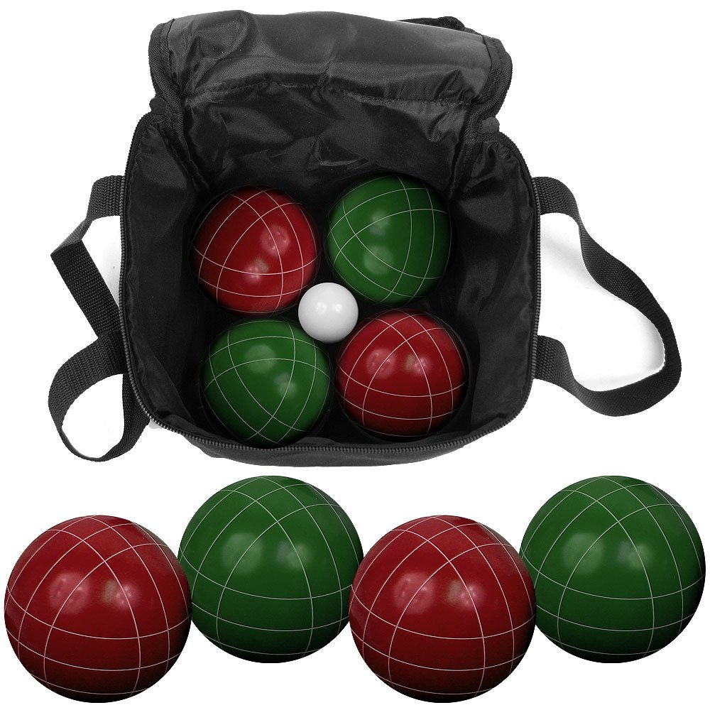 amazon com deluxe outdoor summer games set bocce ball