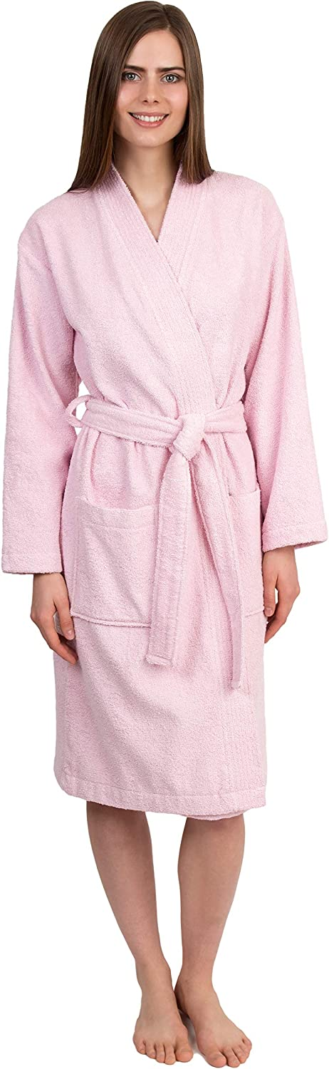 TowelSelections Women's Turkish Cotton Robe, Terry Cloth Kimono Bathrobe