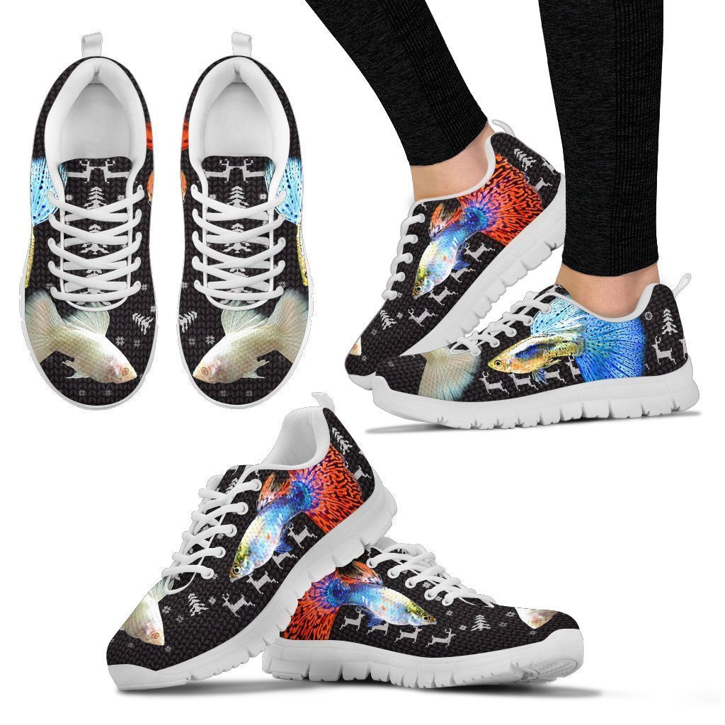 12. Pet By You Beautiful Guppy Fish 3D Printed Sneakers Women Sneakers Breathable Jogging Running//Gym Shoes US Sizes 5 Light Weight Sneakers for Women