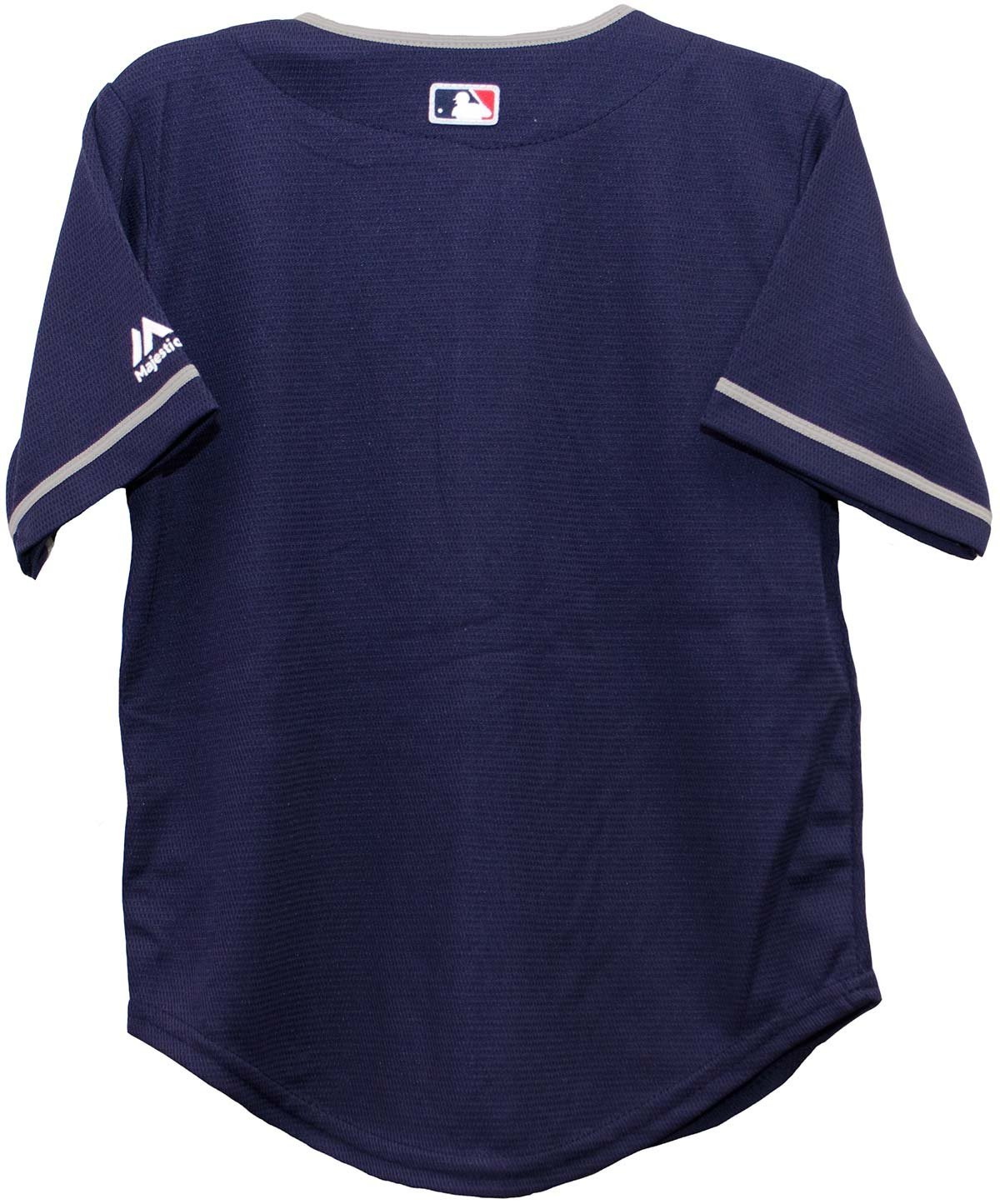 Amazon.com   Cleveland Indians Alternate Navy Cool Base Child MLB Jersey  (Medium (5 6))   Sports   Outdoors 2ef897adcc1