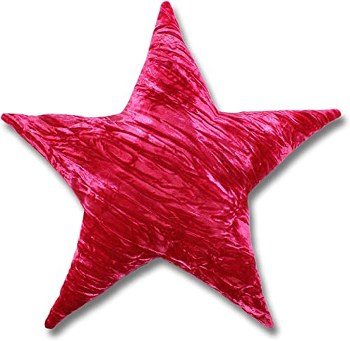 Candi Andi Handmade Star Shaped Throw Pillow Buckwheat Hull Fill Decorative,Living Room, Kids Room, Bedroom, Home Dorm D cor Colorful Crushed Velvet 17 Lavender Scented Hot Pink