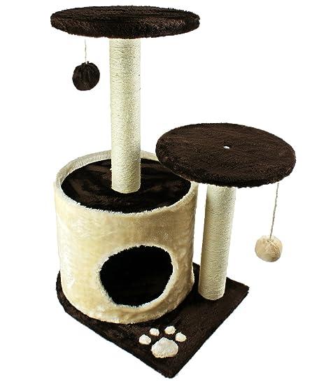 Escalada Árbol para gatos Color – Marrón y altura de 70 cm – Rascador para gatos