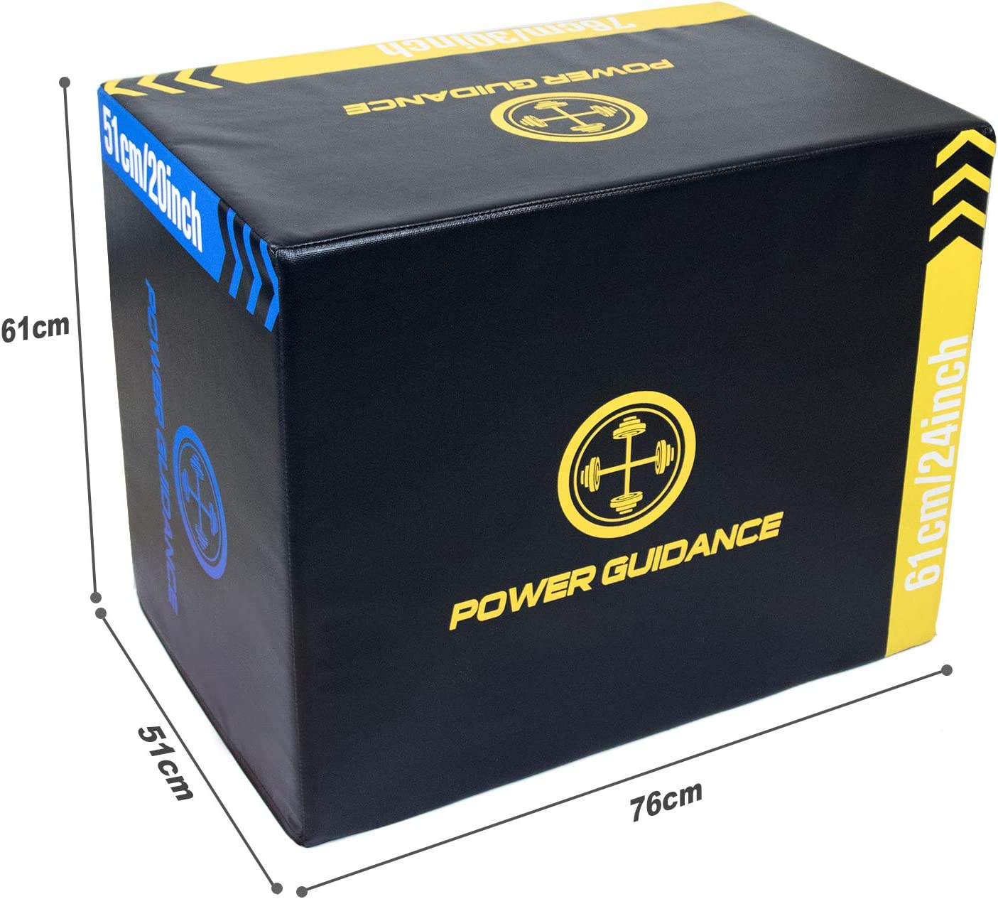 POWERGUIDANCE 3 en 1 Soft plyo Boxes 76 * 61 * 51cm Foam ...