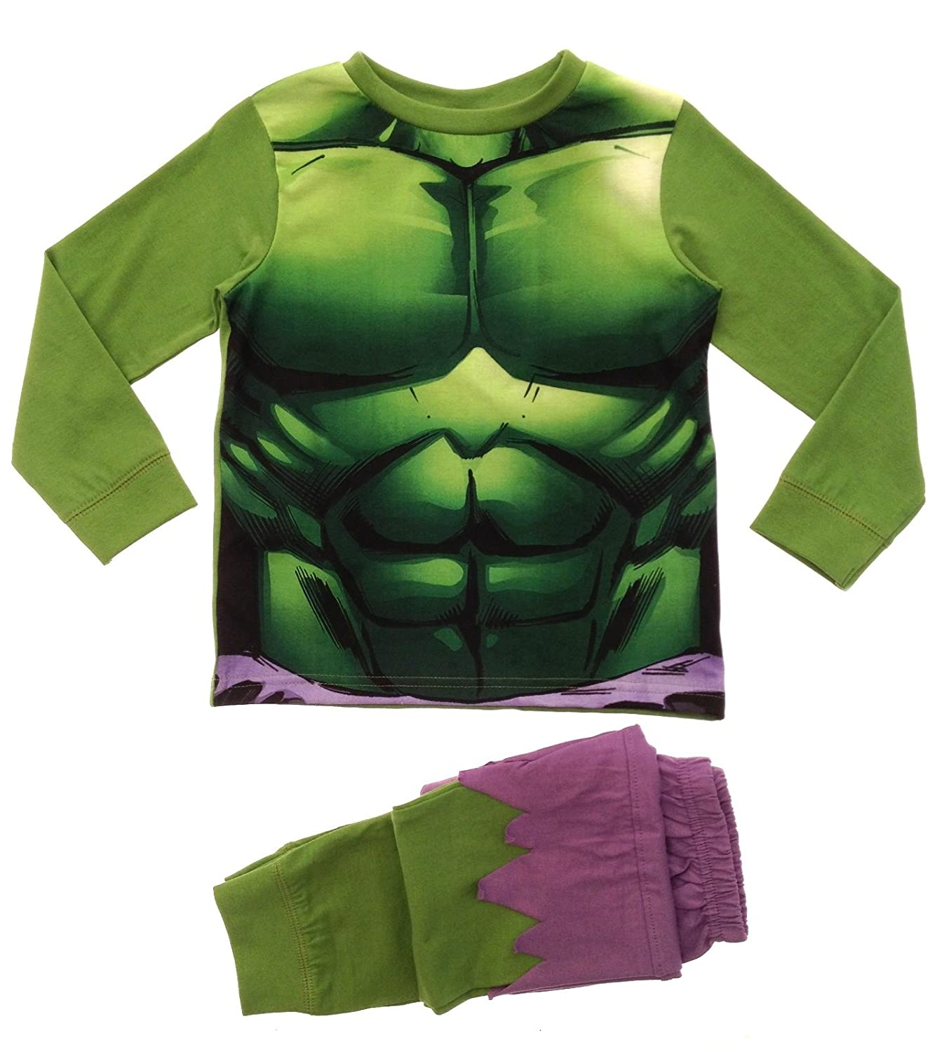 Lora Dora Big Boys' Marvel Avengers Inc Ible Hulk Pyjamas Pj Set 10269#22380#HULK#07/08