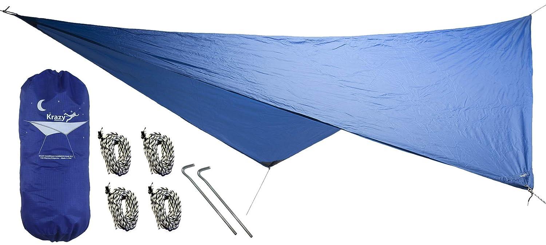 Hängematte Regen Fly 70D Ripstop-Nylon durch Halsung Krazy im Freien Krazy Outdoors