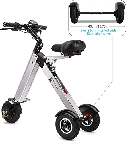 TopMate ES31 Electric Scooter Mini Tricycle Key Switch 3 Gears Rear Axle Suspension for Mobility Assistance and Travel