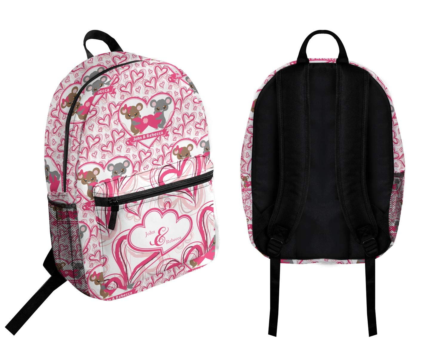 Personalized Valentines Day Student Backpack