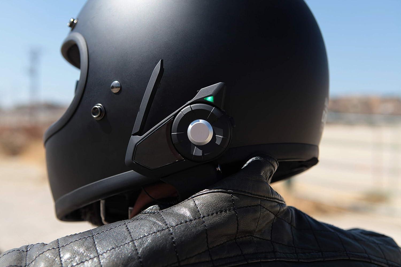 Single Sena 30K-01 Motorcycle Bluetooth//Mesh Multicolor Communication System Renewed