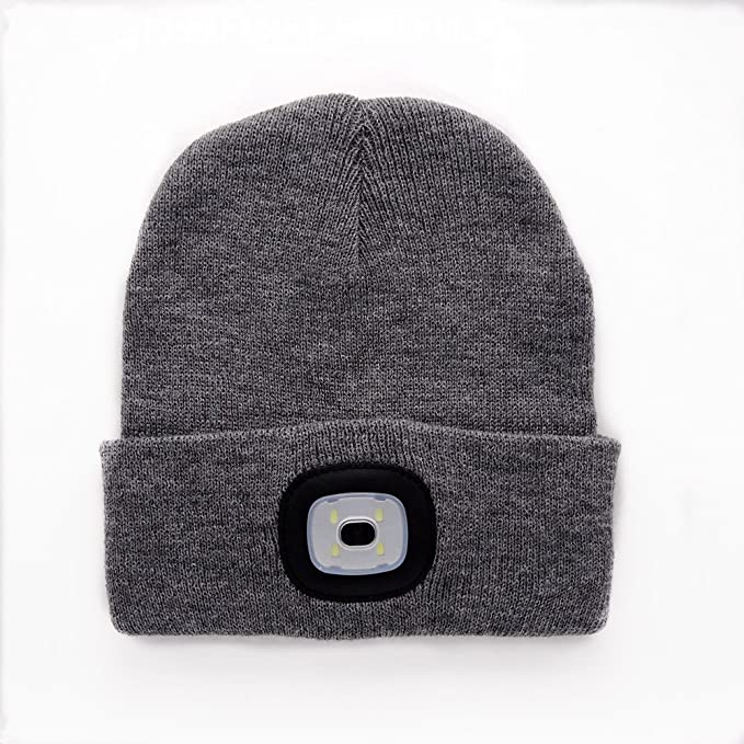 ZZM New Warm Bright LED Gorro Iluminado Gorro Unisex Recargable ...