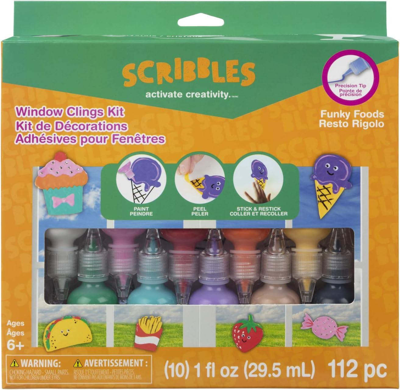 Scribbles Window Cling Kit, Multi