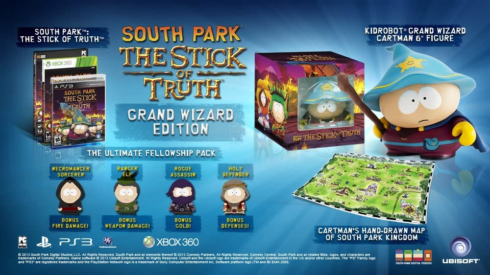 Amazon Com South Park The Stick Of Truth Grand Wizard Edition Playstation 3 Collectors Edition Video Games