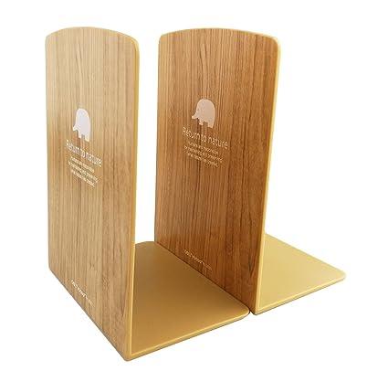 Winterworm Simple Nature Plastic Bookend Book Stand Bookends Ends Shelf Shelves Holder Decorative Bookshelf