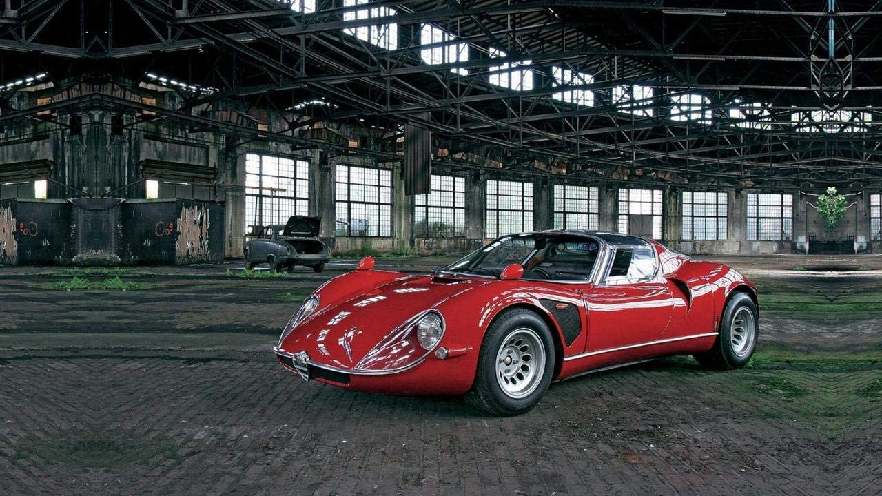 Lilarama USA 1968 Alfa Romeo Tipo 33 Stradale V5 - Canvas Art Print - Wall Art - Canvas Wrap