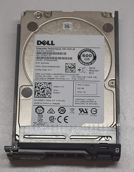 """Dell R95FV 600GB SAS 10K 2.5/"""" 12GBPS hard drive ST600MM0088"""