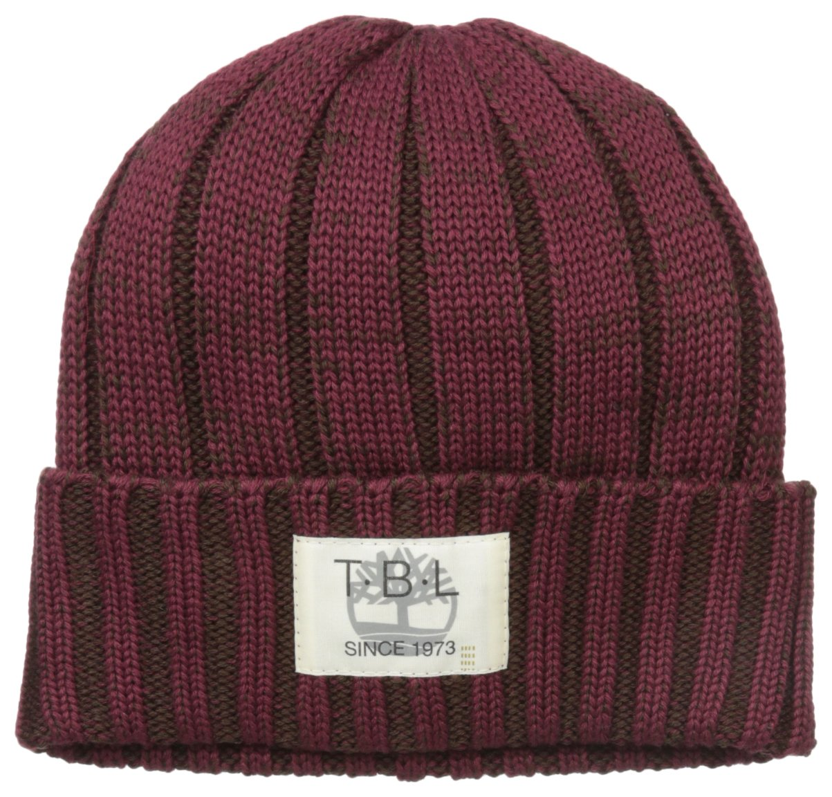 Timberland Men's Marled Ribbed Watch Cap, Chocolate Truffle, One Size by Timberland (Image #1)