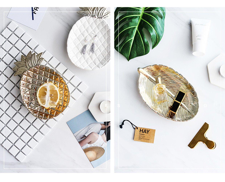 Imbiss Kuchen Keramik Ananas Blatt Teller Tablett (Blatt): Amazon ...