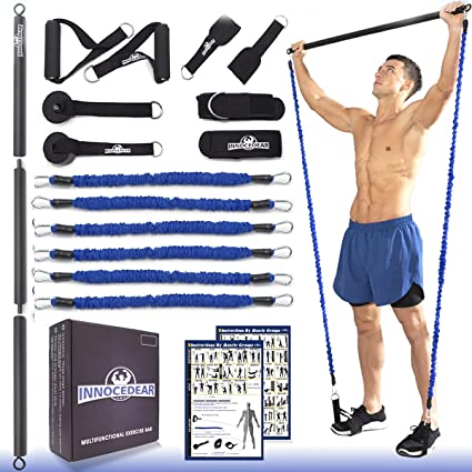6 Power Resistance Exercise Heavy Duty Bands Natural Latex Tube Home Gym Fitness